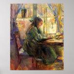 Écriture de jeune fille par Berthe Morisot Poster