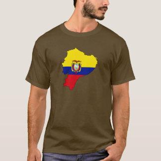 Ecuador-Flaggenkarte T-Shirt