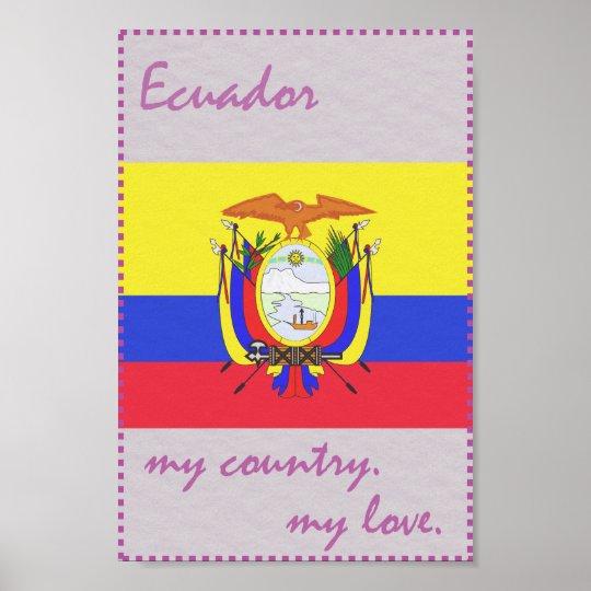 Ecuador mein Land meine Liebe Poster