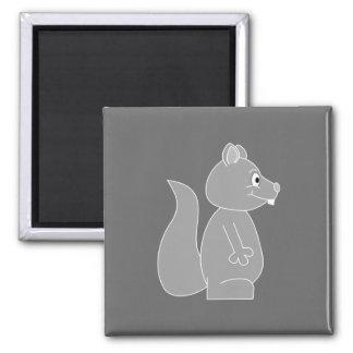 Écureuil gris magnet carré