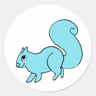 écureuil lunatique sticker rond