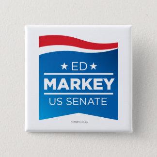 Ed Markey für Senatornknopf Quadratischer Button 5,1 Cm