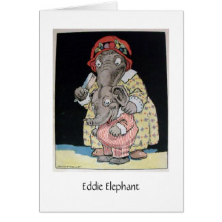Eddie-Elefant und Mutter (freier Raum nach innen) Karte