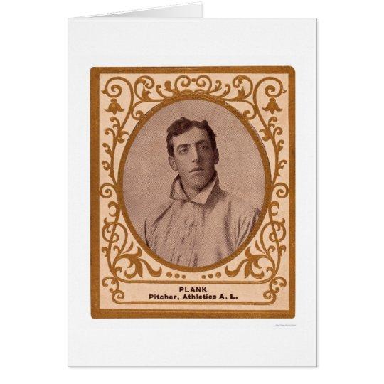 Eddie-Planken-Baseballkarte 1909 Karte