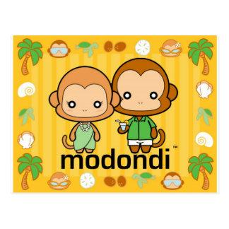Eddie u. Marie tropisch Postkarte