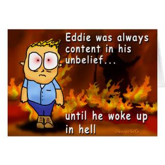 Eddie wacht in der Hölle auf Karte