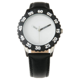 Edelstahl-Schwarz-Uhr, justierbare Einfassung Uhren