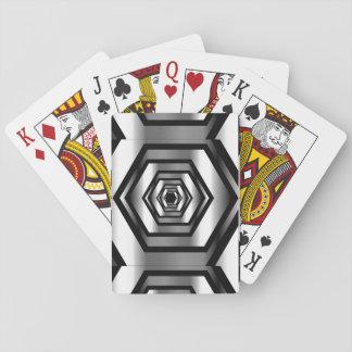 Edelstahlhexagon Pokerkarten