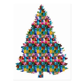 EDELSTEIN verzierter Weihnachtsbaum:  Frohe Postkarte