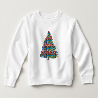 EDELSTEIN verzierter Weihnachtsbaum:  Frohe Sweatshirt