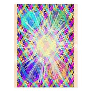 Edelsteine, Juwelen, heilende Steine der Blumen-n Postkarte