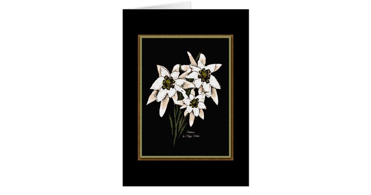 edelweiss blumen mitteilungskarte zazzle. Black Bedroom Furniture Sets. Home Design Ideas