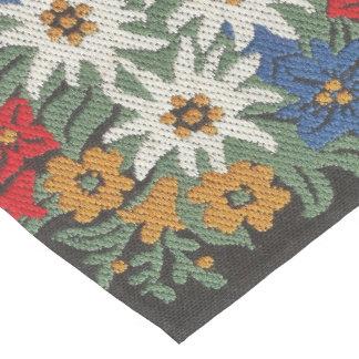 Edelweiss Schweizer alpine Blume Mittelgroßer Tischläufer