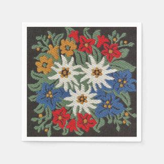 Edelweiss Schweizer alpine Blume Papierserviette