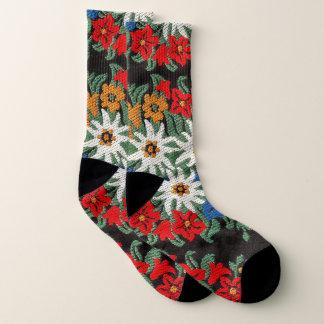 Edelweiss Schweizer alpine Blume Socken