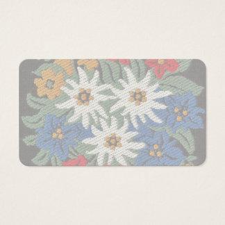 Edelweiss Schweizer alpine Blume Visitenkarten