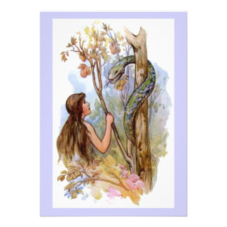 Eden Eve und die Schlange Ankündigungskarte