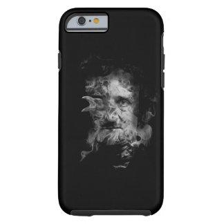 Edgar Allan Poe im Rauche mit Raben Tough iPhone 6 Hülle