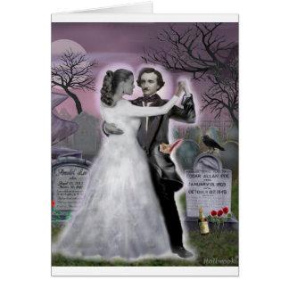 Edgar Allan Poe und Annabel Lee ewig Karte