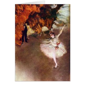 Edgar Degas - ballerine de Prima Carte De Vœux