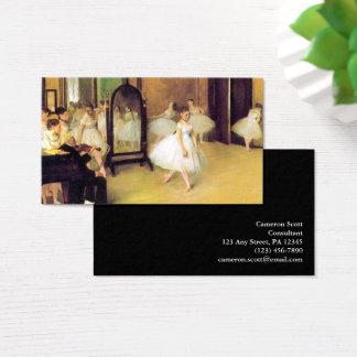 Edgar Degas | die Tanzen-Klasse Visitenkarte