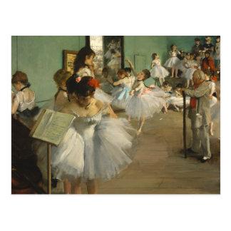 Edgar Degas die Tanzklasse Postkarte