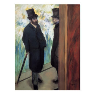 Edgar Degas: Freunde am Theater Postkarte