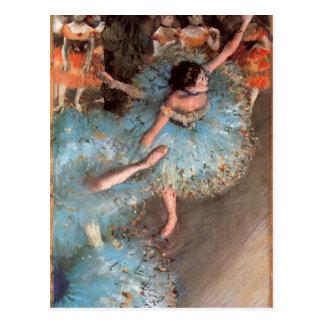 Edgar Degas - les danseurs de verts Carte Postale