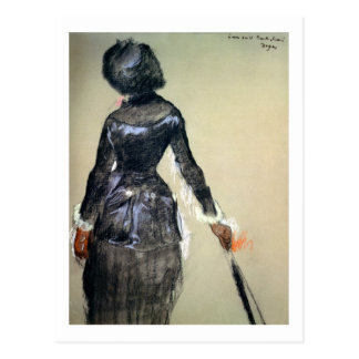 Edgar Degas | Mary Cassatt am Louvre Postkarte
