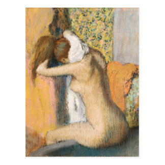 Edgar Degas | nach dem Bad, Frauen-trocknender Postkarte