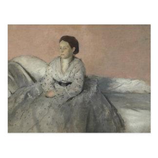 Edgar Degas - Porträt von Madame Rene de Gas Postkarte