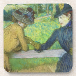 Edgar Degas | zwei Frauen, die auf einem Tor sich Getränkeuntersetzer