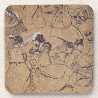 Edgar Degas | zwölf Studien der Frauen im Kostüm Untersetzer