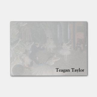 Edgar entgasen | Bühne-Probe Post-it Haftnotiz