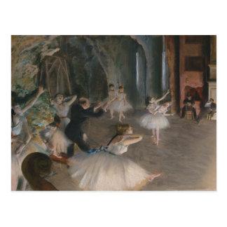 Edgar entgasen | Bühne-Probe Postkarte