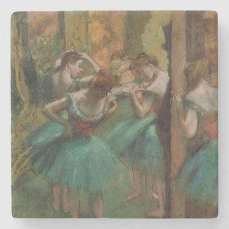 Edgar entgasen die rosa Tänzer und grünen Steinuntersetzer