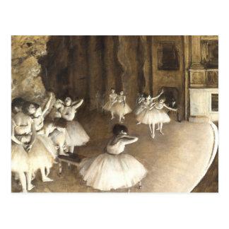 Edgar entgasen neue Adresse der | Ballett-Proben-| Postkarte