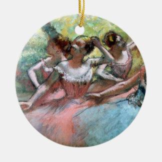 Edgar entgasen | vier Ballerinen auf der Bühne Keramik Ornament