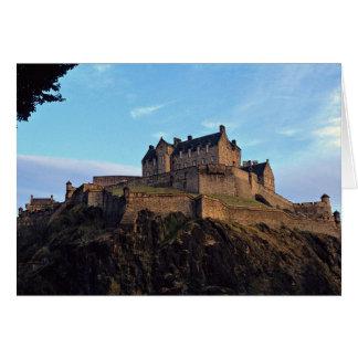 Edinburgh-Schloss, Schottland Karte