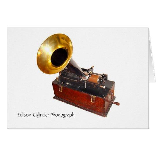 Edison-Zylinder-Plattenspieler Karte
