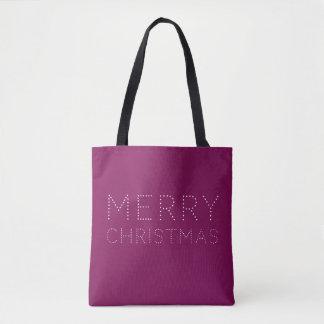 EDITABLE Farbfrohe Weihnacht-Feiertag Tasche