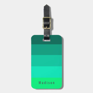Editable persönliche helle Sommer-Grün-Farben Gepäckanhänger