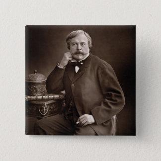 Edmond de Goncourt (1822-96) von 'Galerie Contemp Quadratischer Button 5,1 Cm