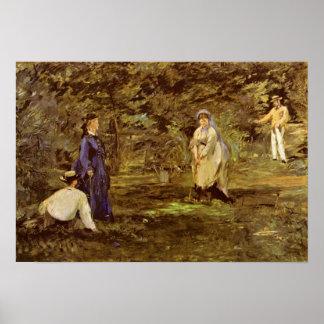 Edouard Manet - Krokettspiel Poster