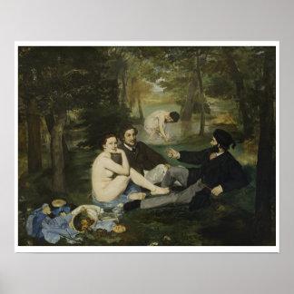 Edouard Manet - Mittagessen auf dem Gras Poster