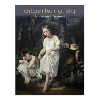 Eduard Steinbrück Kinder, die Postkarte CC0561