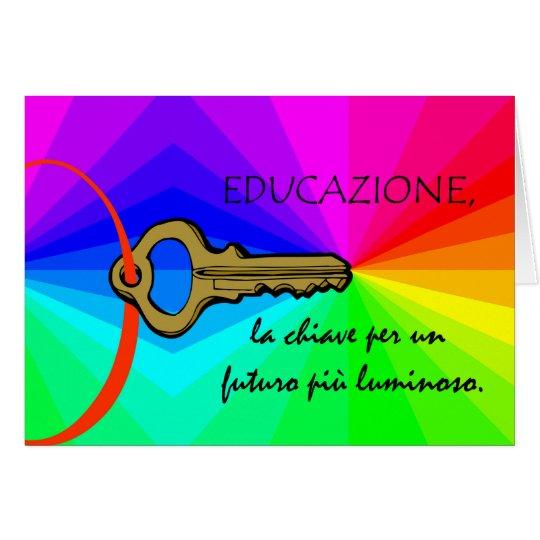 Educazione, Lehrer-Anerkennungs-Karte auf Grußkarte