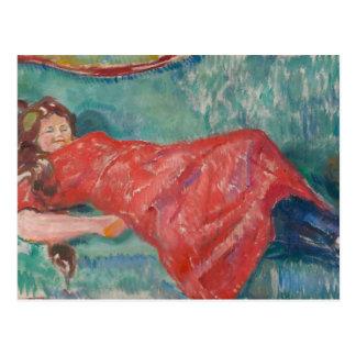 Edvard Munch - auf dem Sofa Postkarte