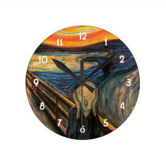 Edvard Munchs der Schrei Runde Wanduhr