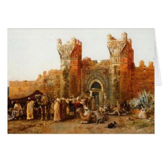 Edwin-Lord Weeks- Gate von Shehal, Marokko Karte